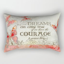 All our Dreams Can Come True Modern Art Butterfly  Rectangular Pillow