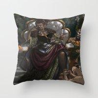 madonna Throw Pillows featuring Madonna  by Anastasia Magloire