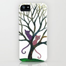 Maryland Whimsical Cats in Tree iPhone Case