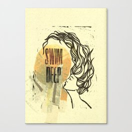 Swim Deep Canvas Print