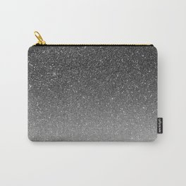 Elegant chic black silver gradient glitter Carry-All Pouch
