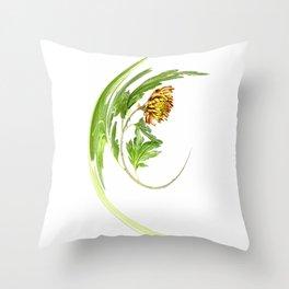 Warped Chrysanthemum Throw Pillow