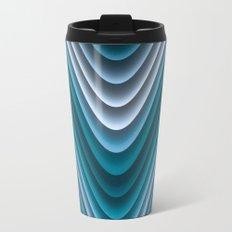 Organic Undulations (teal) Travel Mug