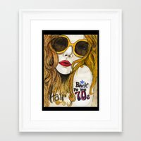 70s Framed Art Prints featuring 70s by Ilaria Benedetti