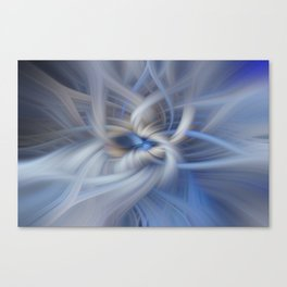 Abstract in blues Canvas Print