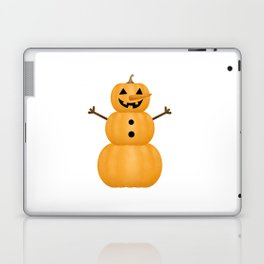 Pumpkin Snowman Laptop & iPad Skin