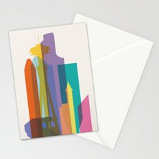 Shapes of Seattle accurate to scale Stationery Cards