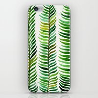 silver iPhone & iPod Skins featuring Seaweed by Cat Coquillette