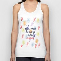 creativity Tank Tops featuring Creativity by Roxana C.