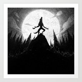 Drawlloween 2013: Werewolf Art Print