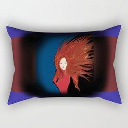 Fire Woman Rectangular Pillow
