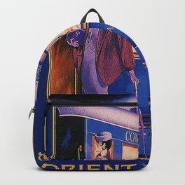 Vintage Orient Express Steam Engine Train Travel Poster Backpack