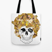 afro Tote Bags featuring Afro by dogooder