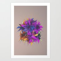 low poly Art Prints featuring Low Poly by Schmeez