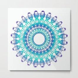 Ethnic Mandala. Metal Print