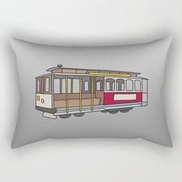 San Francisco Cable Car Rectangular Pillow