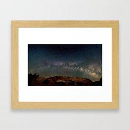 Starry Night Over Mesa Arch Framed Art Print
