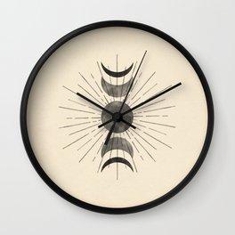Boho sun and moon Wall Clock