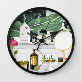 The Fragrance Cabinet Wall Clock