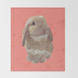 Peanut Bunny the Rabbit Polygon Art Throw Blanket