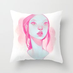 visage - pink Throw Pillow