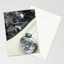 vintage white car - details Stationery Cards