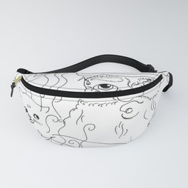 Birth of the Cat - Black & White Fanny Pack