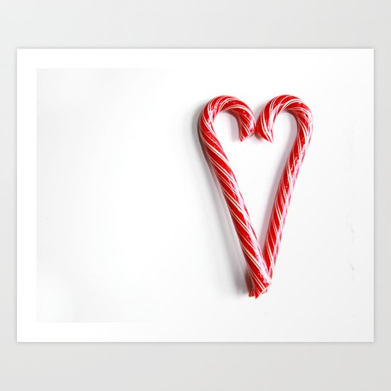 Candy Cane Heart Art Print