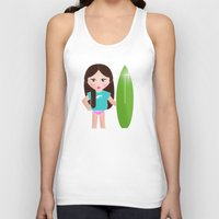 teacher Tank Tops featuring My surf teacher by Golosinavisual
