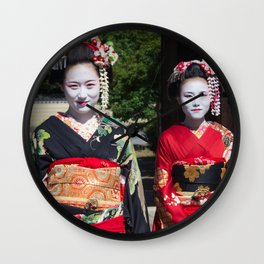 Geishas in Japan Wall Clock