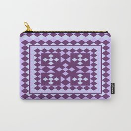 Lavender Patchwork Quilt Carry-All Pouch