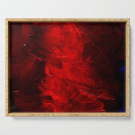 Red Abstract Paint | Corbin Henry Artist Serving Tray