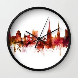 Coventry England Skyline Wall Clock