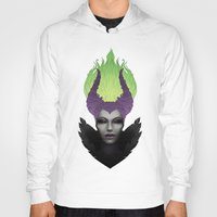 maleficent Hoodies featuring Maleficent by clayscence