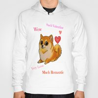 doge Hoodies featuring Valentines Doge by Keri Lynne