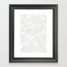 Ghostly Paisley: Dust to Dust Framed Art Print