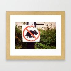 Poo Framed Art Print