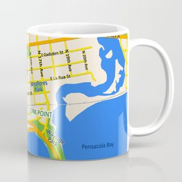 Map of Pensacola, FL - East Hill Christian School Coffee Mug