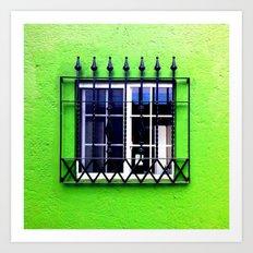 Green erectile Art Print