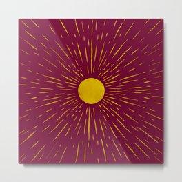 Bohemian Sunshine (Burgundy Bg) Metal Print