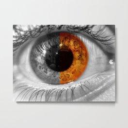 Eye (half color) Metal Print