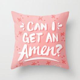 Can I Get An Amen? – Blush Pink Palette Throw Pillow
