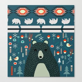 Bear Christmas decoration Canvas Print