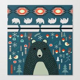 Bear Christmas decoration Canvas Print