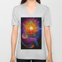 Abstract - Perfkektion - Sunset Unisex V-Neck