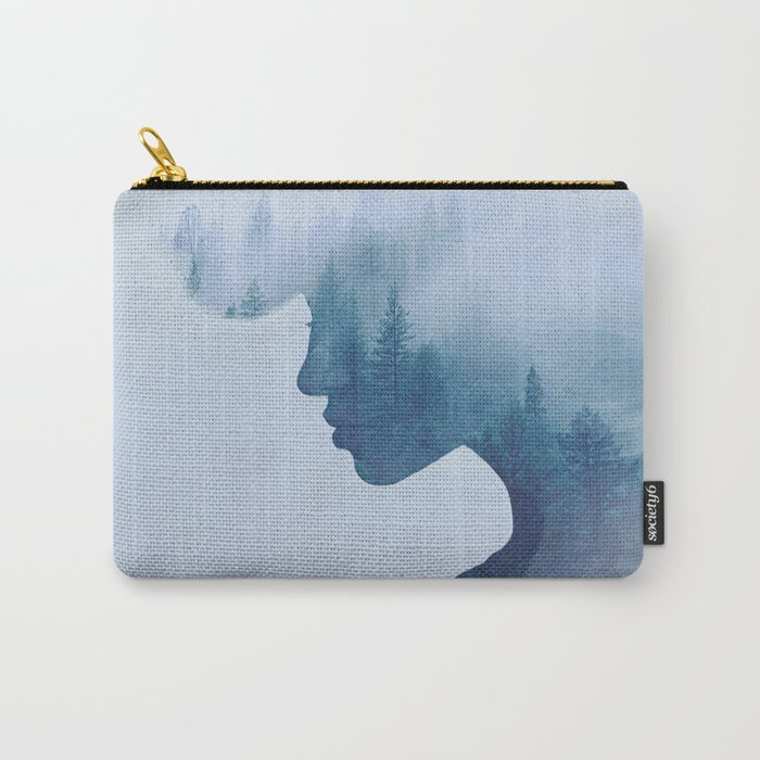 double exposure Carry-All Pouch
