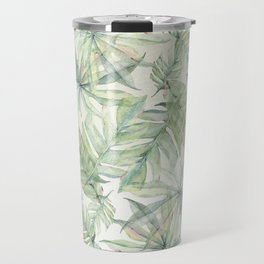 Green Tropical Leaves Travel Mug