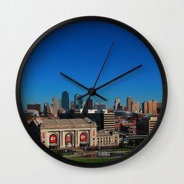 Union Station and Kansas City Skyline Wall Clock