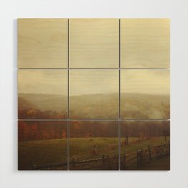 Misty Fall in Vermont Wood Wall Art