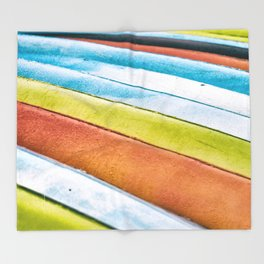 The Color of Kayaks... Throw Blanket